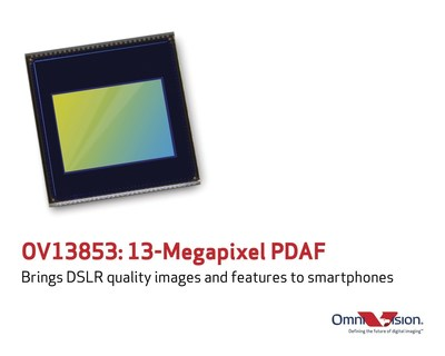 OmniVision's OV13853 brings DSLR quality images and features to smartphones.