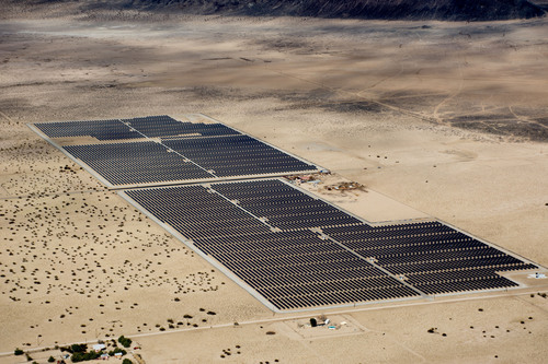 24 MW DC Cascade Solar Plant Constructed by SunEdison located in California Desert, Largest plant interconnected to date under California RAM program. Financing provided by Wells Fargo, SDG&E to purchase electricity generated.(PRNewsFoto/SunEdison, Inc.)
