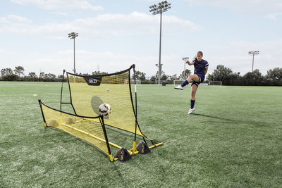 Alex Morgan training on the SKLZ Quickster Soccer Trainer.