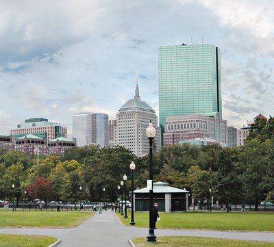 Boston Common view, 380 Stuart Street. Conceptual rendering supplied courtesy of Skidmore Owings Merrill & CBT.