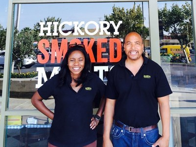 Jamie and Liza Bynum, owner/operators of Lancaster's new Dickey's store