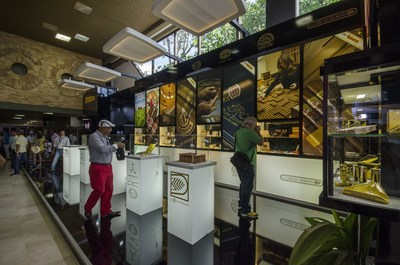 Stands in the trade fair of the Habanos Festival (PRNewsFoto/HABANOS SA)