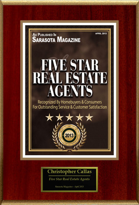 "Christopher Callas Selected For ""Five Star Real Estate Agents"".  (PRNewsFoto/American Registry)"
