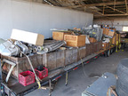 This trailer contains thousands of vintage aviation parts that will be auctioned off on Fri, Oct. 11.  This is only one such container.  This may be the largest collection of WWII-era aviation parts currently available in the US.  (PRNewsFoto/Greatest Generation Aircraft)