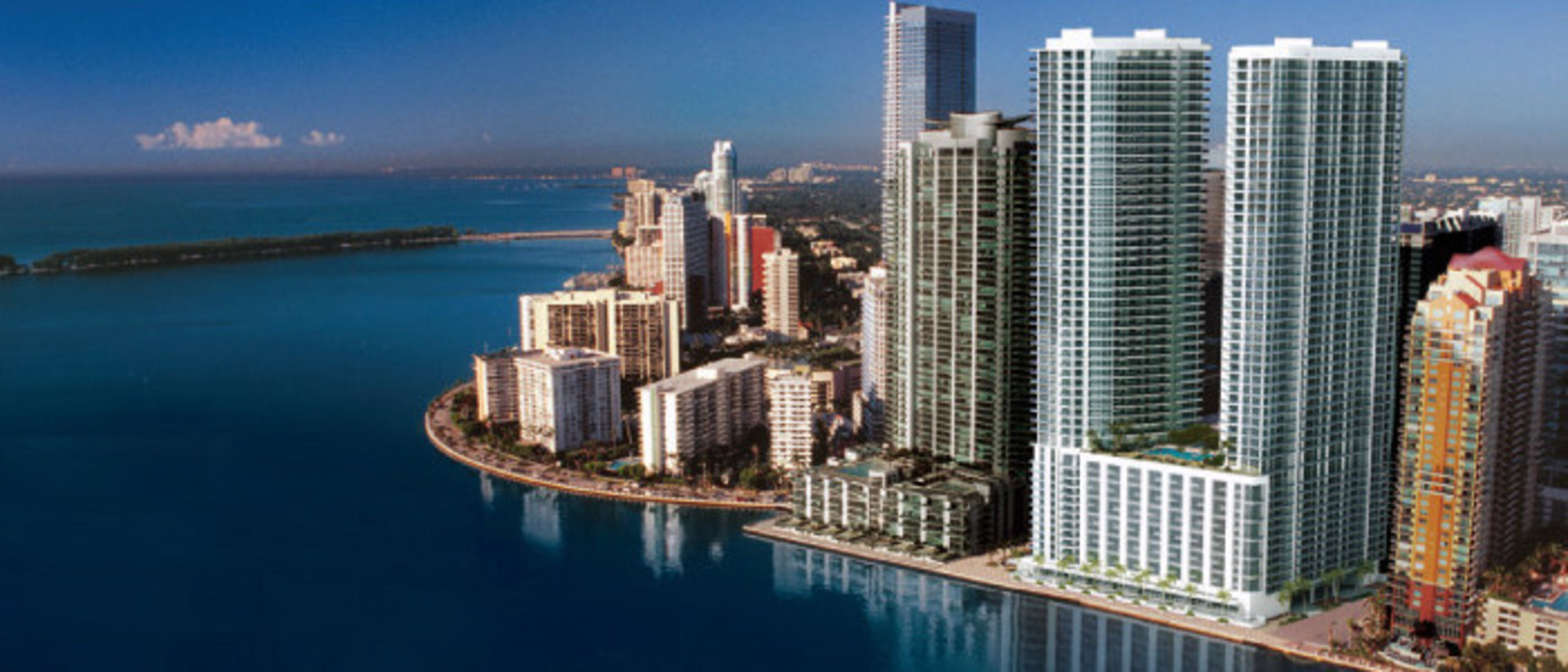 Early rendering of 1201 Brickell Bay Drive