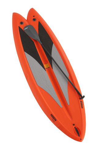 "The Lifetime Freestyle Paddleboard was created with beginners in mind and provides greater stability and tracking in both surf and flat water than other stand-up paddleboards, with two adjustable fins to increase performance in diverse water conditions. With its unique design and smaller than average 9'8"" size, the Lifetime Paddleboard is lightweight and easy to maneuver and transport. And, unlike many paddleboards currently on the market, the Lifetime Freestyle Paddleboard also includes an adjustable fiberglass paddle.  ..."