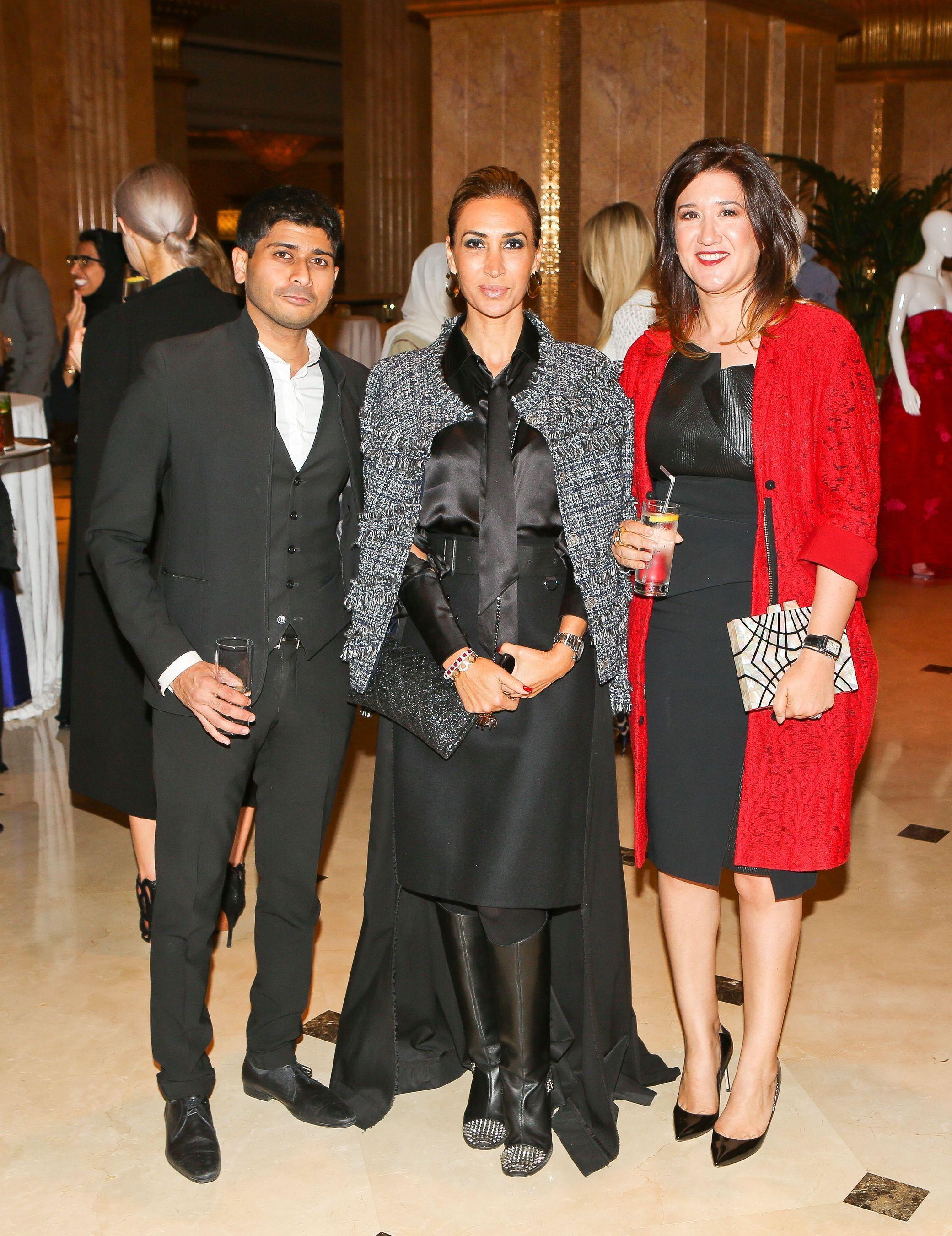Shashi Menon, Nadine Kanso and Nez Gebreel (PRNewsFoto/Farfetch and Style_com_Arabia)