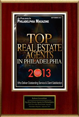 "Robert Greenblatt of Keller Williams Realty Selected For ""Top Real Estate Agents In Philadelphia"".(PRNewsFoto/American Registry)"