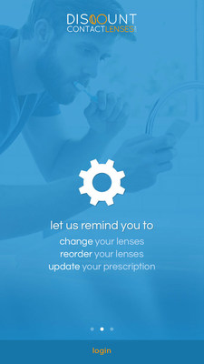 DiscountContactLenses.com new mobile app allows you to get reminders when to see the eye doctor, change your contacts, or reorder contact lenses. Available for Apple and Android phones.