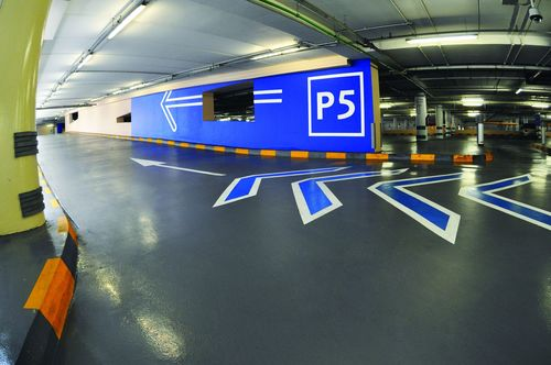 The prestigious Dubai Mall installed a robust flooring solution from Flowcrete Middle East that could withstand the abusive environment of a large car park without deteriorating. (PRNewsFoto/Flowcrete Asia)