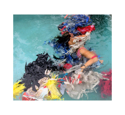 "26"" x 24"" - Lila Roo, an original photographic still from a performance piece, ""oil.water"" 2010, ed. 25, $1000.  (PRNewsFoto/Plastic Pollution Coalition)"