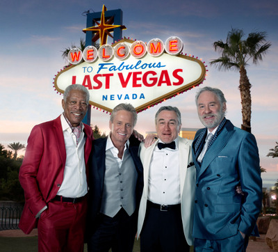 "Morgan Freeman, Michael Douglas, Robert De Niro and Kevin Kline star in the comedy ""Last Vegas.""    (PRNewsFoto/CBS Films)"