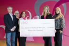 Dots representatives present a donation check to Susan G. Komen for the Cure(R) to help fund ground-breaking research and projects through the Girlfriends Giving Back program. LEFT to RIGHT, Rick Bunka, Dots CEO; Gale Johnson, Chief Merchandising Officer; Kathy Doner-Douglas, DVP Merchandising; Susan G. Komen Northeast Ohio Representatives Denise Grcevich, Board President-Elect and Lori Butterfield, Development Marketing Director.  (PRNewsFoto/Dots, LLC)