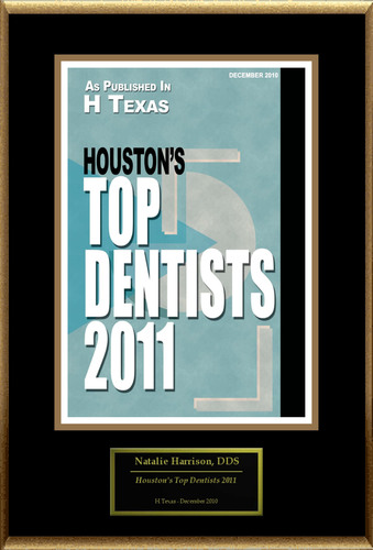 Natalie Harrison, DDS Selected for 'Houston's Top Dentists 2011'