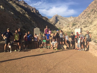 Wounded warriors learned about importance of physical health with hike on Mount Cristo Rey in New Mexico.