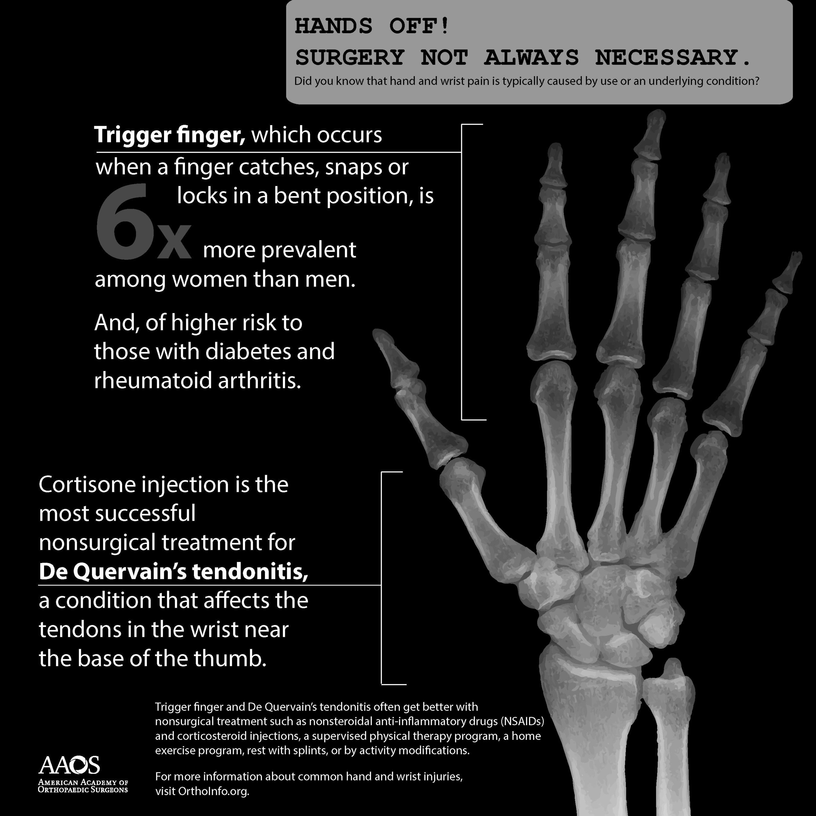 Hands off! Surgery not always necessary.