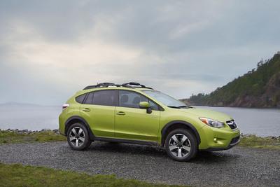 SUBARU INTRODUCES ITS FIRST PRODUCTION HYBRID MODEL AT THE 2013 NEW YORK INTERNATIONAL AUTO SHOW.  (PRNewsFoto/Subaru of America, Inc.)