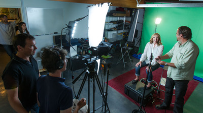 Behind the scenes at Toni Collette's PSA shoot for Concern Worldwide US. Photo: Peter McCabe/petermccabephotography.com
