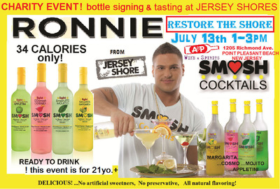 Ronnie Ortiz Magro with his delicious Smush Cocktails line.  (PRNewsFoto/Smush Cocktails)