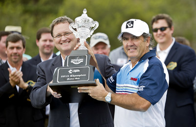 """2015 Mississippi Gulf Resort Classic champion David Frost will be one of six celebrity players whose second shot on the 18th hole at Fallen Oak could earn a local charity $1,000 as part of the """"Green for Greens"""" challenge during the C Spire Pro-Am on March 31.  Nearly 200 amateurs and professional golfers will play in the kickoff event for the PGA TOUR Champions tournament."""