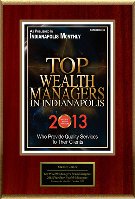 "Stan Crisci Selected For ""Top Wealth Managers In Indianapolis."" (PRNewsFoto/American Registry)"