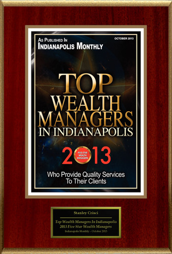 "Stan Crisci Selected For ""Top Wealth Managers In Indianapolis."" (PRNewsFoto/American Registry) ..."