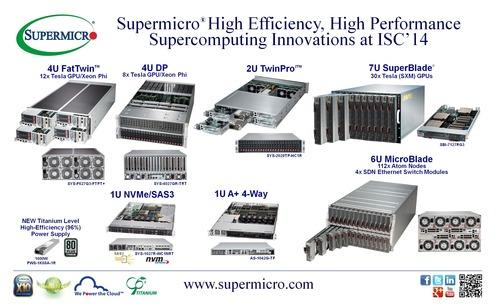 Supermicro® Highlights High Efficiency, High Performance Supercomputing Innovations at ISC'14  (PRNewsFoto/Super Micro Computer, Inc.)
