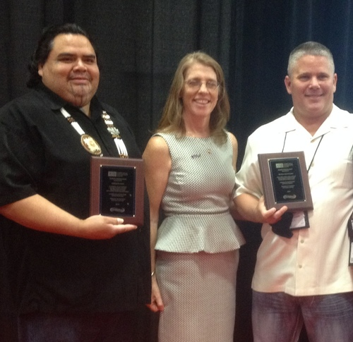 Jack Potter, Jr. Redding Rancheria Vice Chairman, Cynthia Hallett, ANR Executive Director, and Gary Hayward, ...