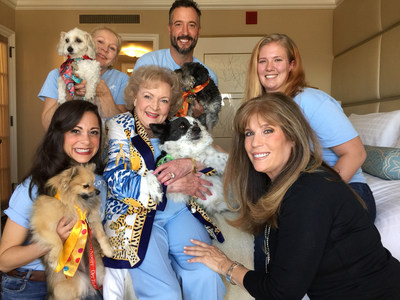 "Helen Woodward Animal Center Adoptable Dogs and Staff Meet Acting Legend Betty White on ""BEST IN SHELTER WITH JILL RAPPAPORT"" airing this Saturday, Feb. 21st on NBC."