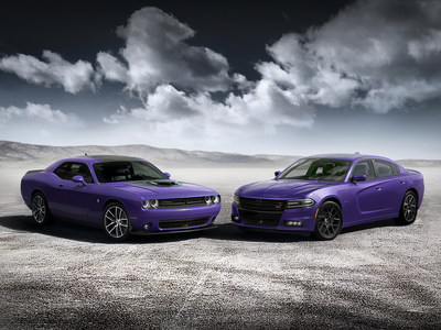 Dodge Debuts Plum Crazy Heritage Hue For 2016 Challenger and Charger, Orders Open in September