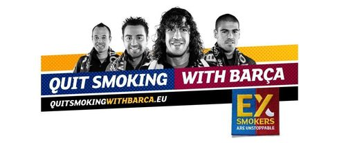 De Europese Commissie en FC Barcelona lanceren de campagne 'Quit Smoking With Barça'