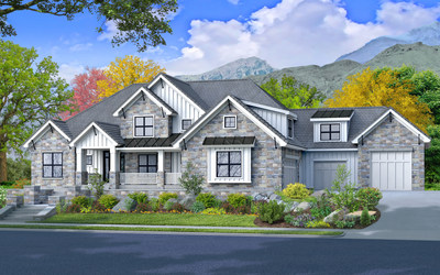 A photo rendering of this year's home built by McEwan Custom Homes