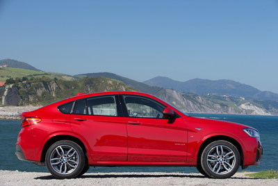 The BMW X4 saw its monthly sales jump nearly 90% in August 2015. (PRNewsFoto/BMW Group)