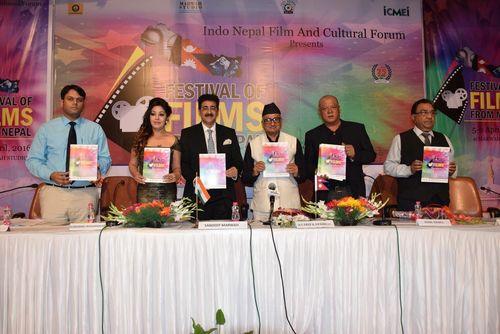 L-R, Dr. Alok Satsangi, Director, SOC, ASMS, Karishma Manandhar, Nepali Actor, Sandeep Marwah, President, ...