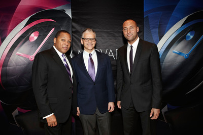 Wynton Marsalis, Efraim Grinberg, Chairman & CEO, Movado Group, Inc., Derek Jeter.  (PRNewsFoto/Movado Group, Inc.)
