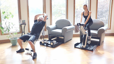 Stow Fitness Furniture : Spin Bike and Weight Bench