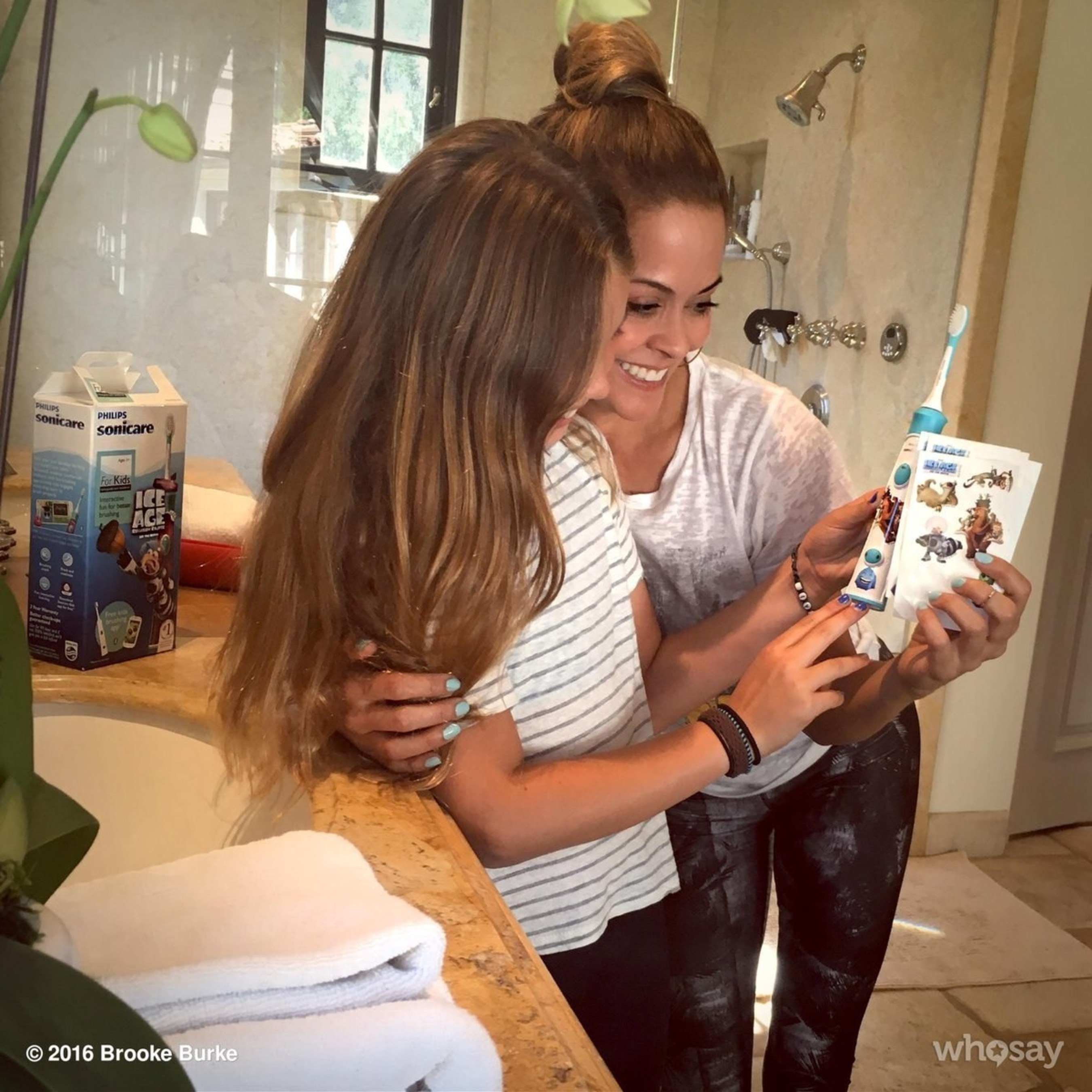 Brooke Burke Encourages her Daughter to Develop Healthy Habits for Life with Philips Sonicare For Kids Ice Age: Collision Course