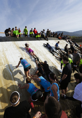 "Tough Mudder adds four new obstacles in 2014, including ""Human Pyramid."" Tested extensively by the TMHQ Obstacle Innovation Team and a select group of DFW Mudders, the latest obstacles are among the most ambitious to ever hit the course."