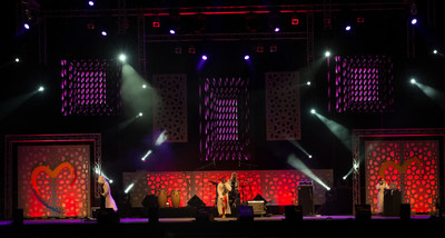 The Moroccan Stage at Mawazine Festival in Ragat that was supported by Moroccan-based Touareg Prod'.