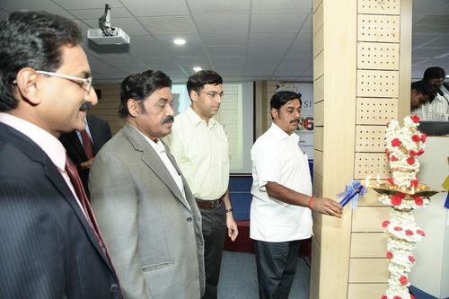 Mr. Ravi Pachamoothoo, Chairman, SRM Group and Founder SIMS Hospital lighting the tradition lamp on the ...