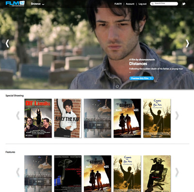 FLM.TV Your Indie Films OnDemand Channel.  (PRNewsFoto/FLM.TV)
