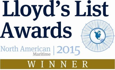 """All Coast, LLC has been named the winner of the Lloyd's List 2015 North American Safety Award. The recognition for """"exceptional commitment to improving safety standards in the shipping industry"""" was presented to the All Coast team at the Lloyd's List awards ceremony on February 18 in Houston, Texas."""