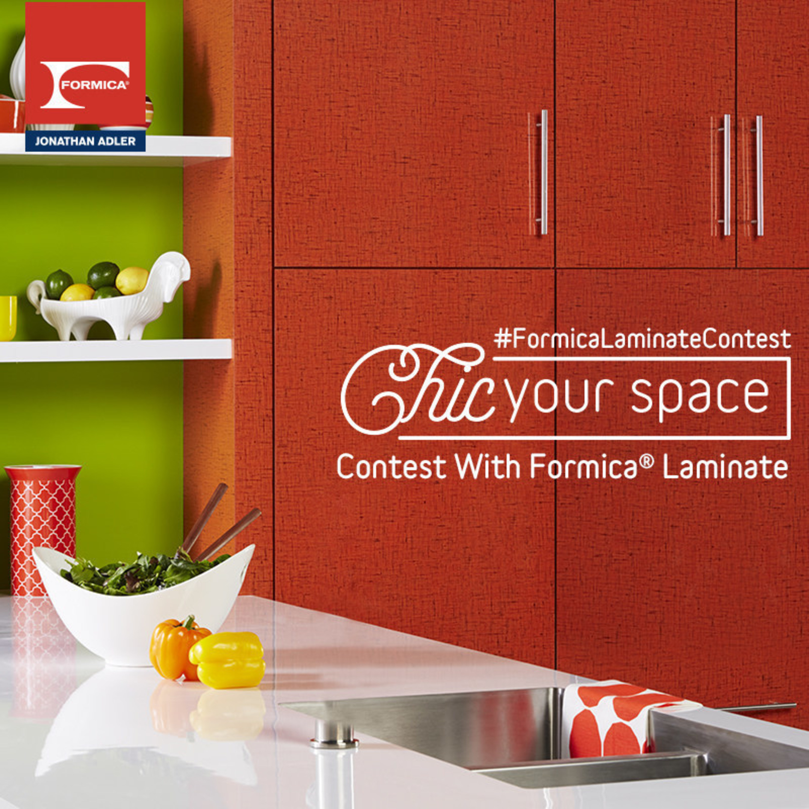 "Formica Corporation gives homeowners a chance to win a $10,000 room makeover with the Chic Your Space Contest With Formica(R) Laminate. To enter, users must simply share a photo of the space they want to ""chic"" using the hashtag #FormicaLaminateContest on Twitter or Instagram, or by direct upload to the contest page at Facebook.com/FormicaGroup. After confirming their entry, users will be entered into the contest."