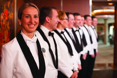 "Crystal Cruises' ""World's Best"" service staff. (PRNewsFoto/Crystal Cruises)"