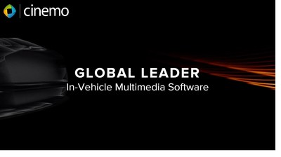 Cinemo is a global leader in automotive grade multimedia playback, streaming, media management and connectivity middleware in the embedded world (PRNewsFoto/Cinemo GmbH)