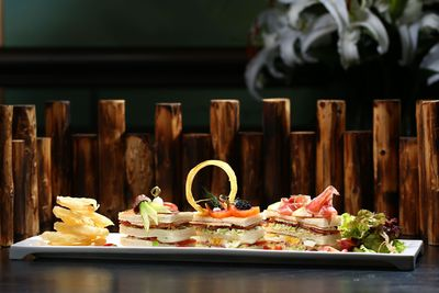 The world's most luxurious Club Sandwich from Hullett House Hotel in Hong Kong.