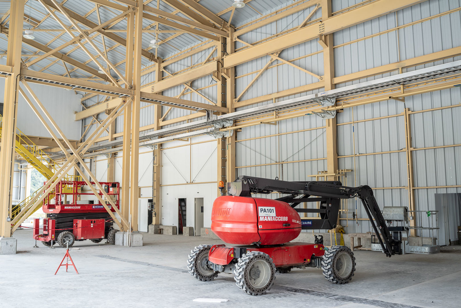 Figure 4. New permanent maintenance shop will have six bays