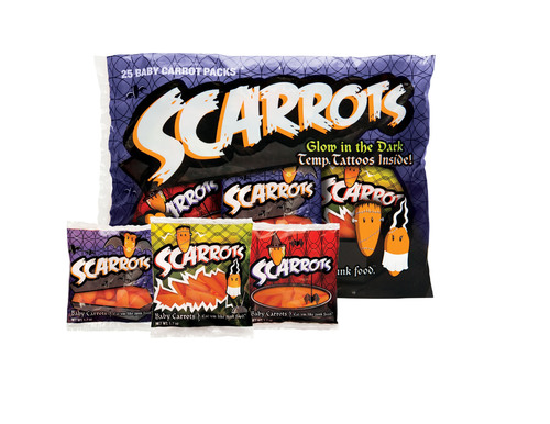 Beginning mid-October Scarrots will be available for purchase in retail stores across the country.  (PRNewsFoto/Bolthouse Farms)