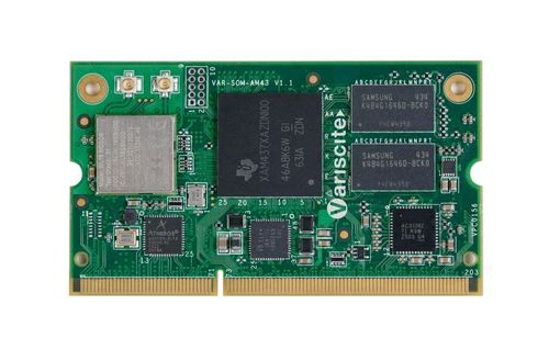 Variscite VAR-SOM-AM43 with TI AM437x 1GHz Cortex-A9 introduces real-time processing and a wide range of industrial connectivity and protocols for the embedded market (PRNewsFoto/Variscite)