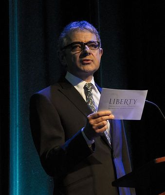 Rowan Atkinson was in attendance at the Liberty Awards